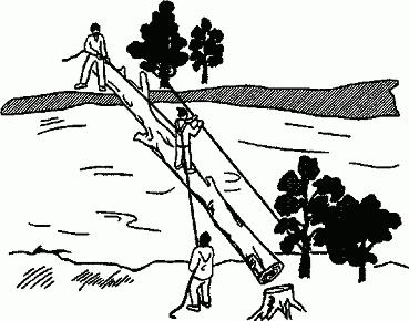 Переправа по дереву
